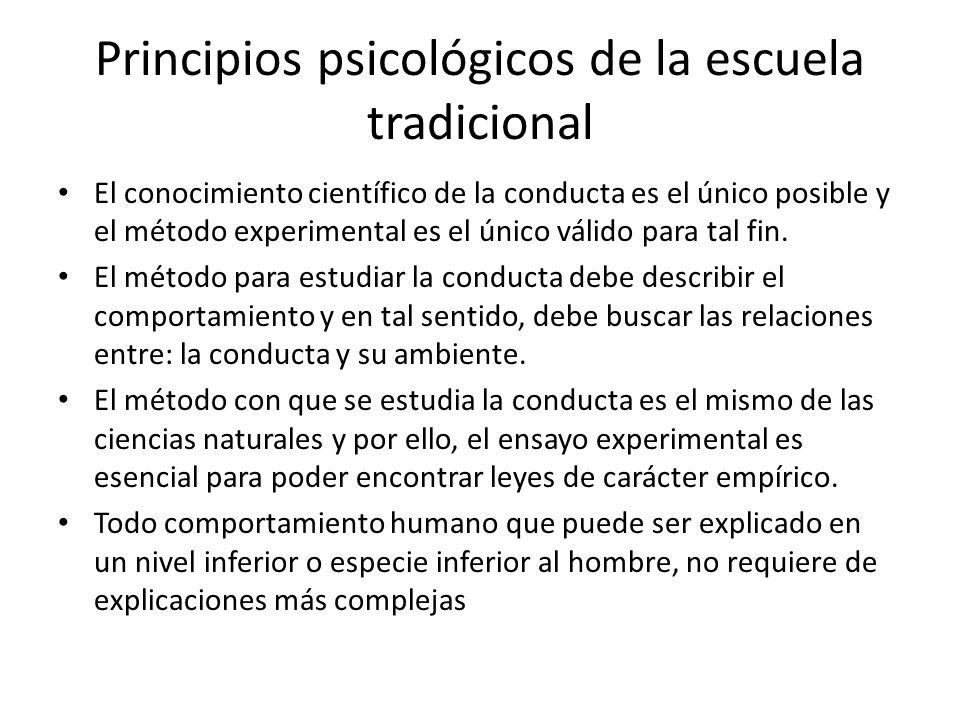 Principios psicológicos de la escuela tradicional