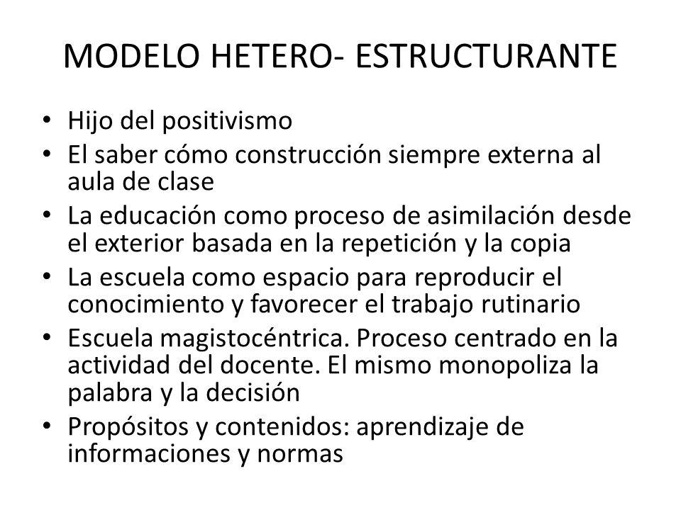 MODELO HETERO- ESTRUCTURANTE