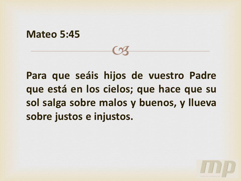 Mateo 5:45