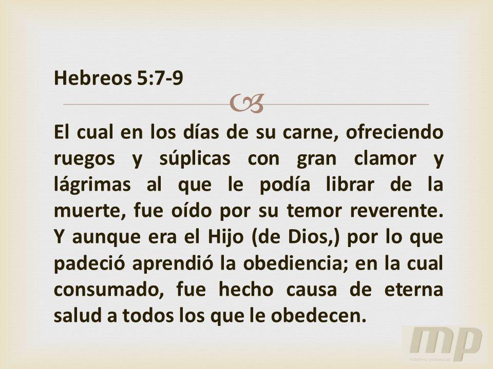 Hebreos 5:7-9