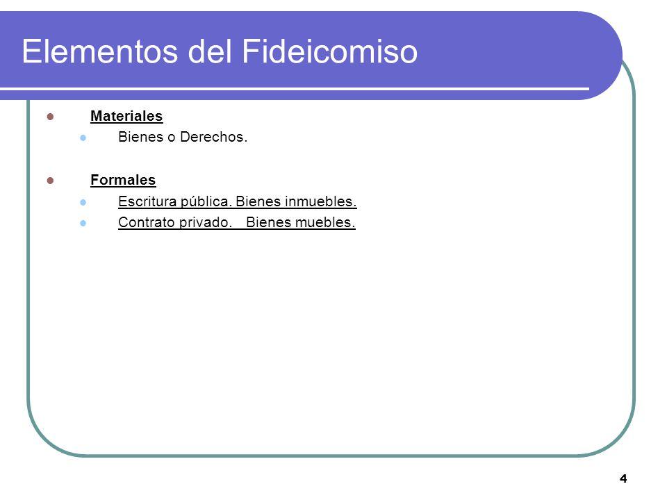 Elementos del Fideicomiso