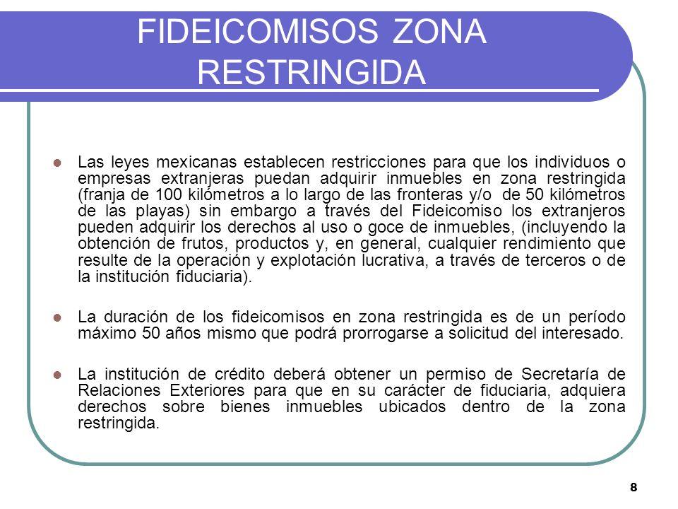 FIDEICOMISOS ZONA RESTRINGIDA