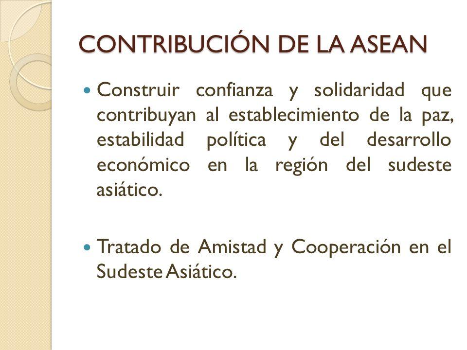 CONTRIBUCIÓN DE LA ASEAN