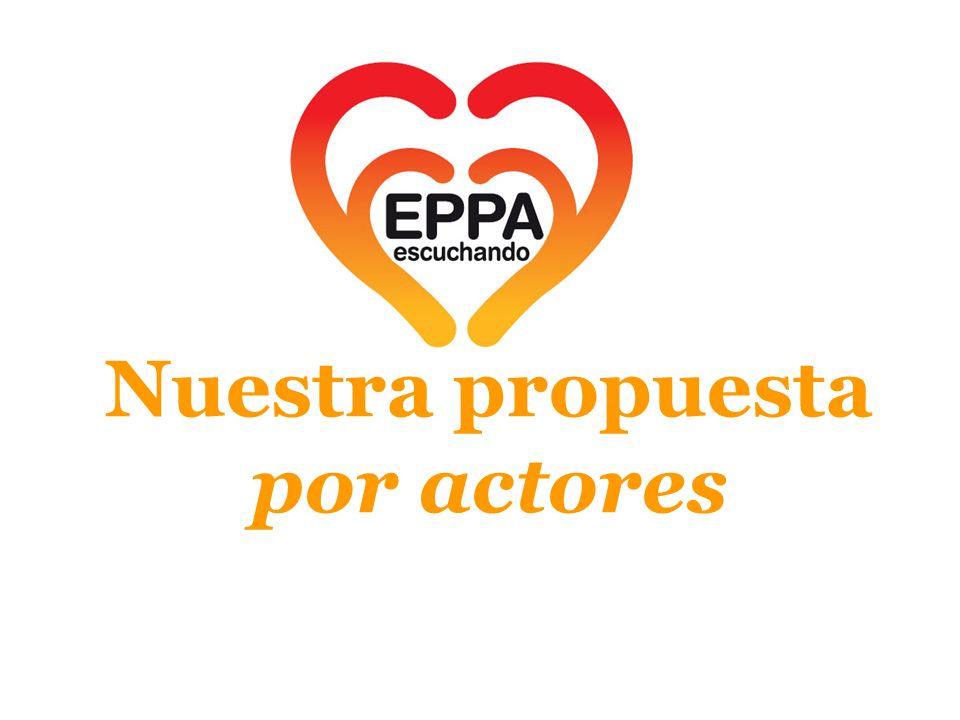 Nuestra propuesta por actores