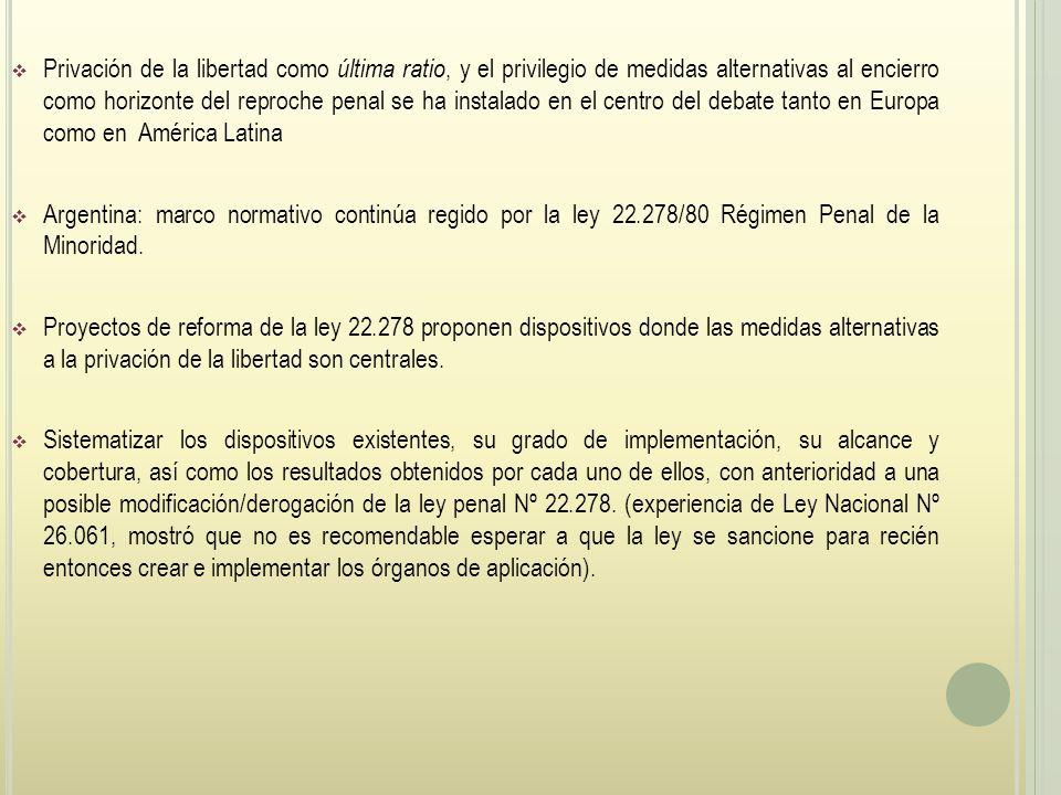 Privación de la libertad como última ratio, y el privilegio de medidas alternativas al encierro como horizonte del reproche penal se ha instalado en el centro del debate tanto en Europa como en América Latina