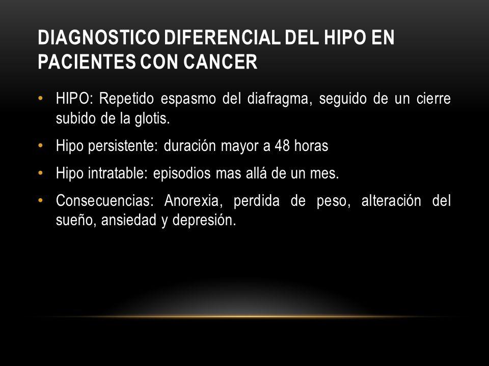 DIAGNOSTICO DIFERENCIAL DEL HIPO EN PACIENTES CON CANCER