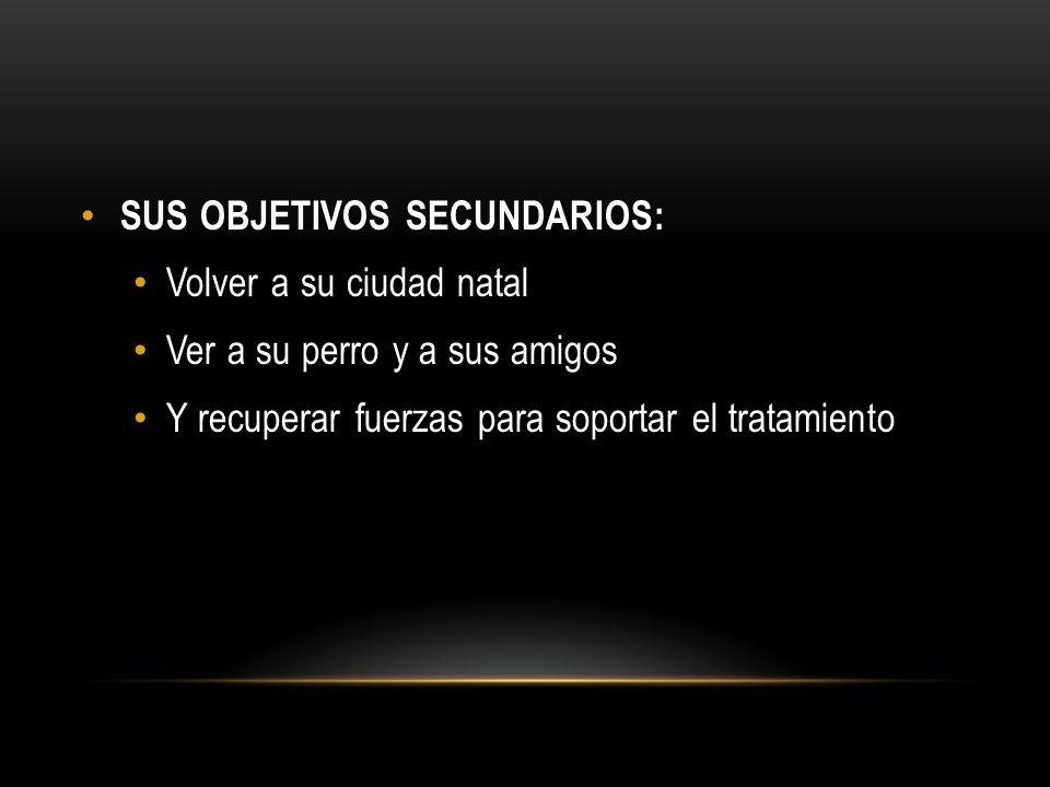 SUS OBJETIVOS SECUNDARIOS: