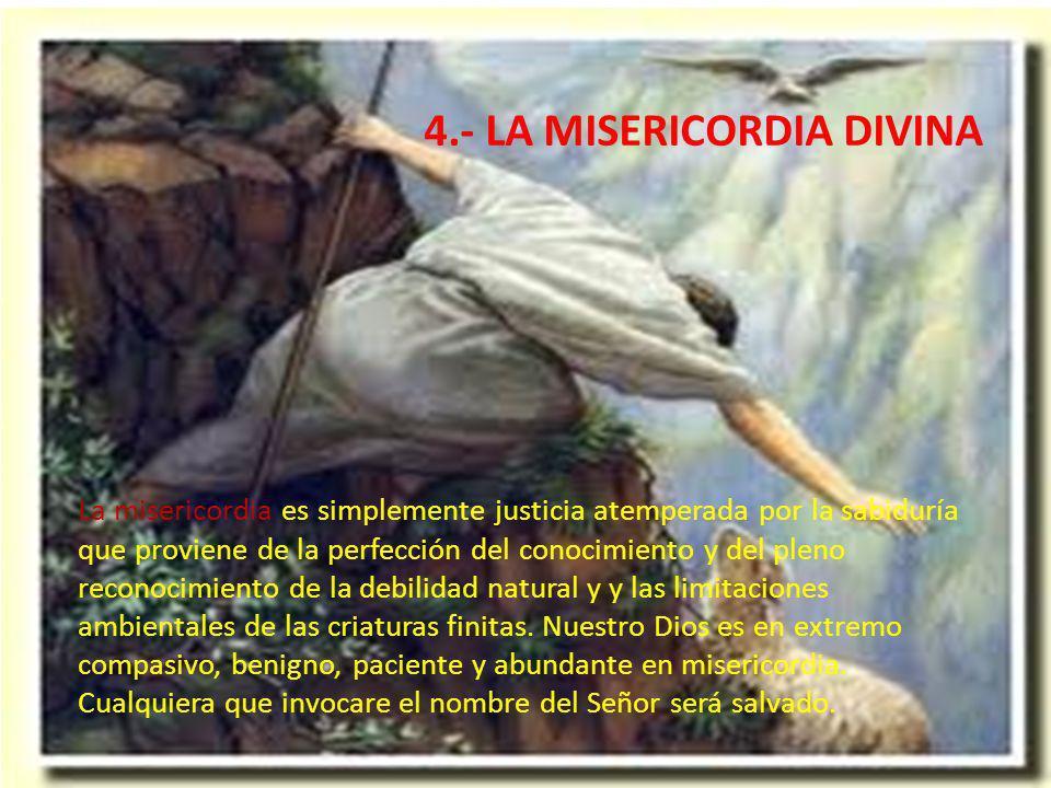 4.- LA MISERICORDIA DIVINA