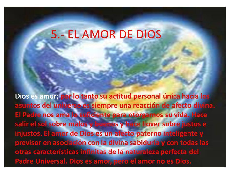 5.- EL AMOR DE DIOS