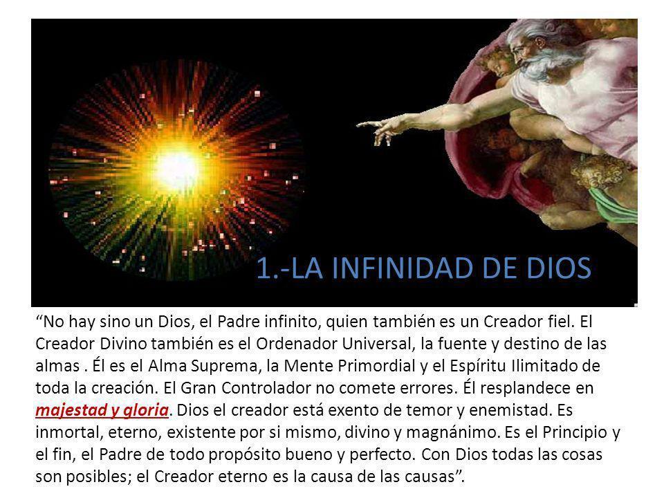 1.-LA INFINIDAD DE DIOS