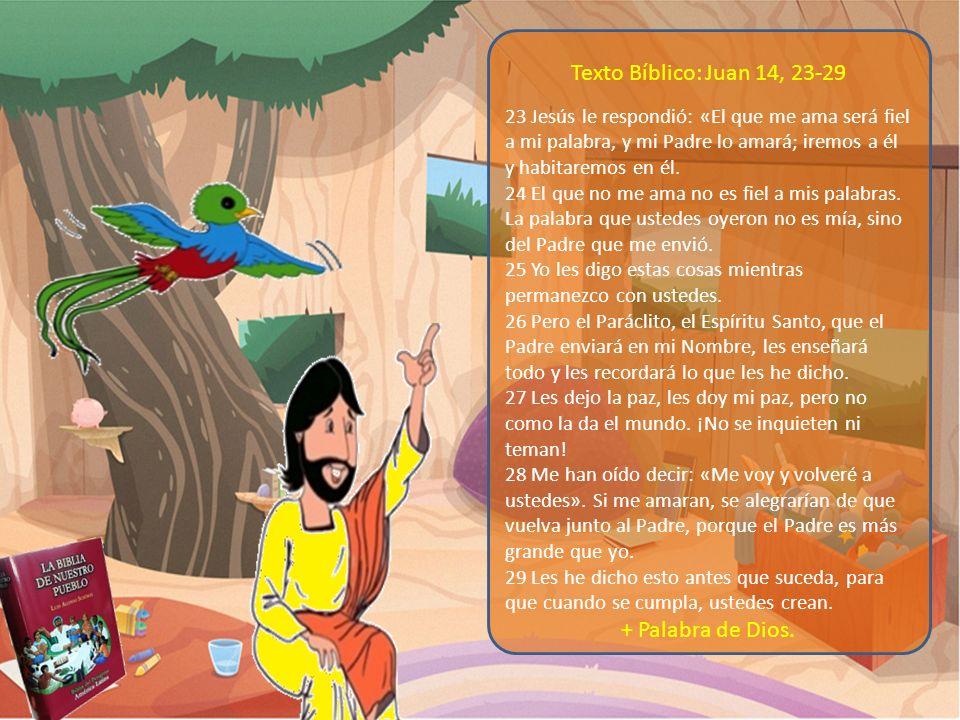 Texto Bíblico: Juan 14, 23-29 + Palabra de Dios.