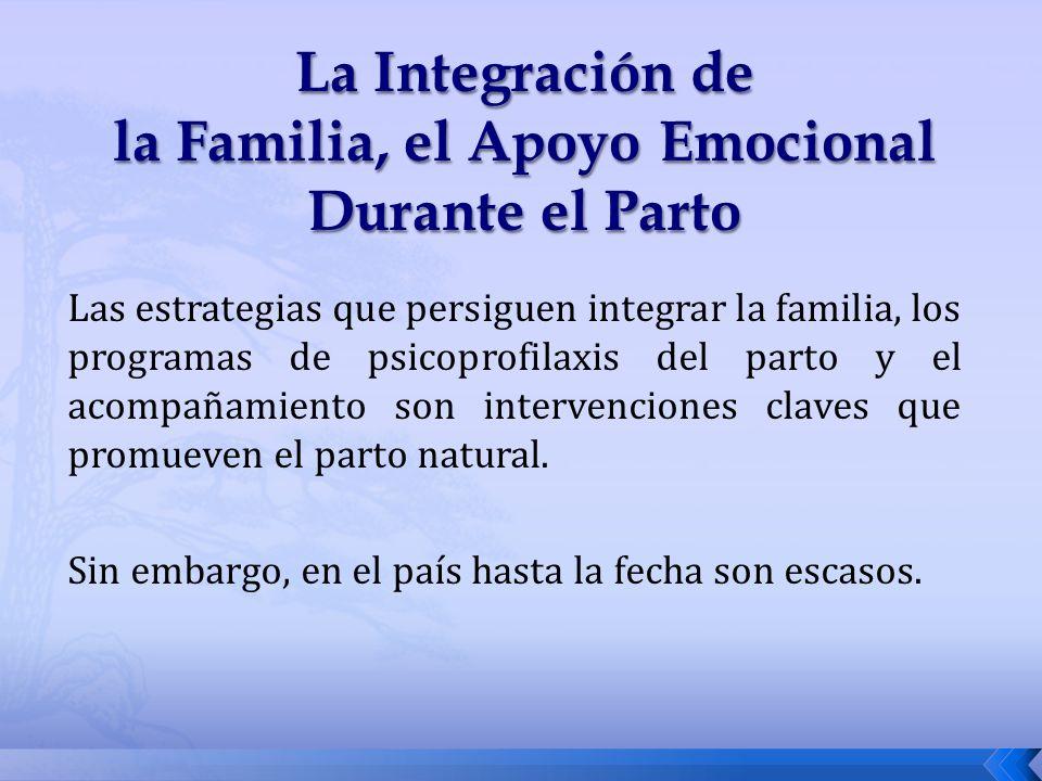 La Integración de la Familia, el Apoyo Emocional Durante el Parto