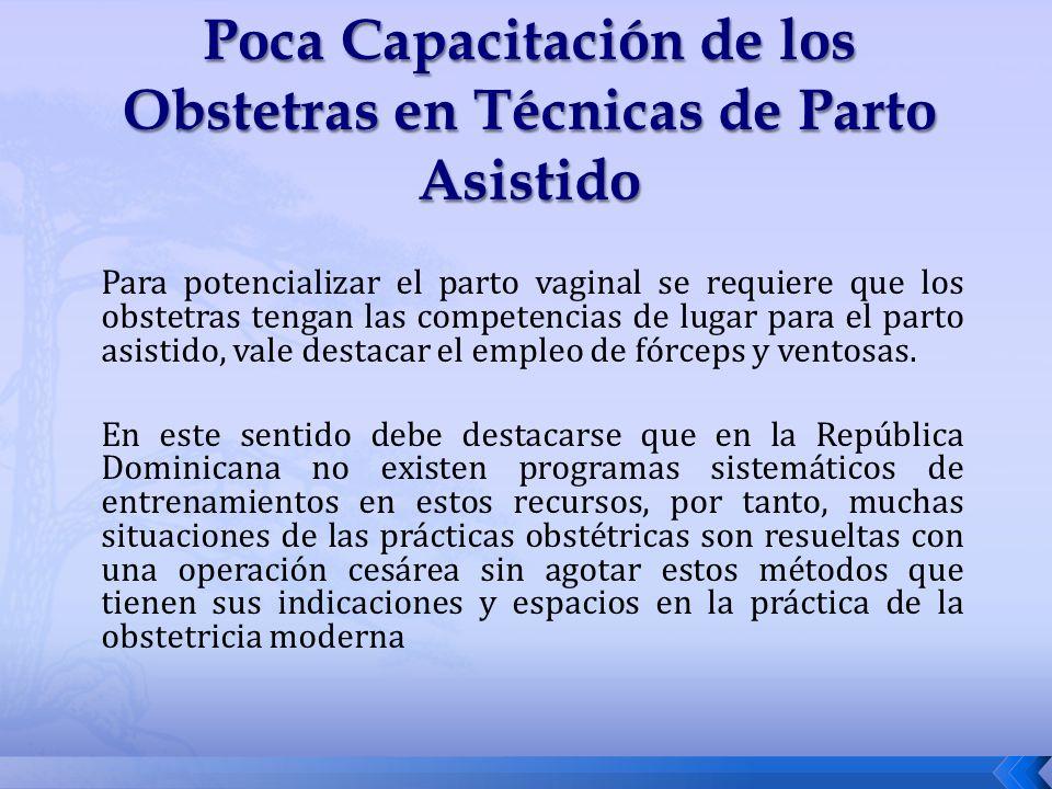 Poca Capacitación de los Obstetras en Técnicas de Parto Asistido