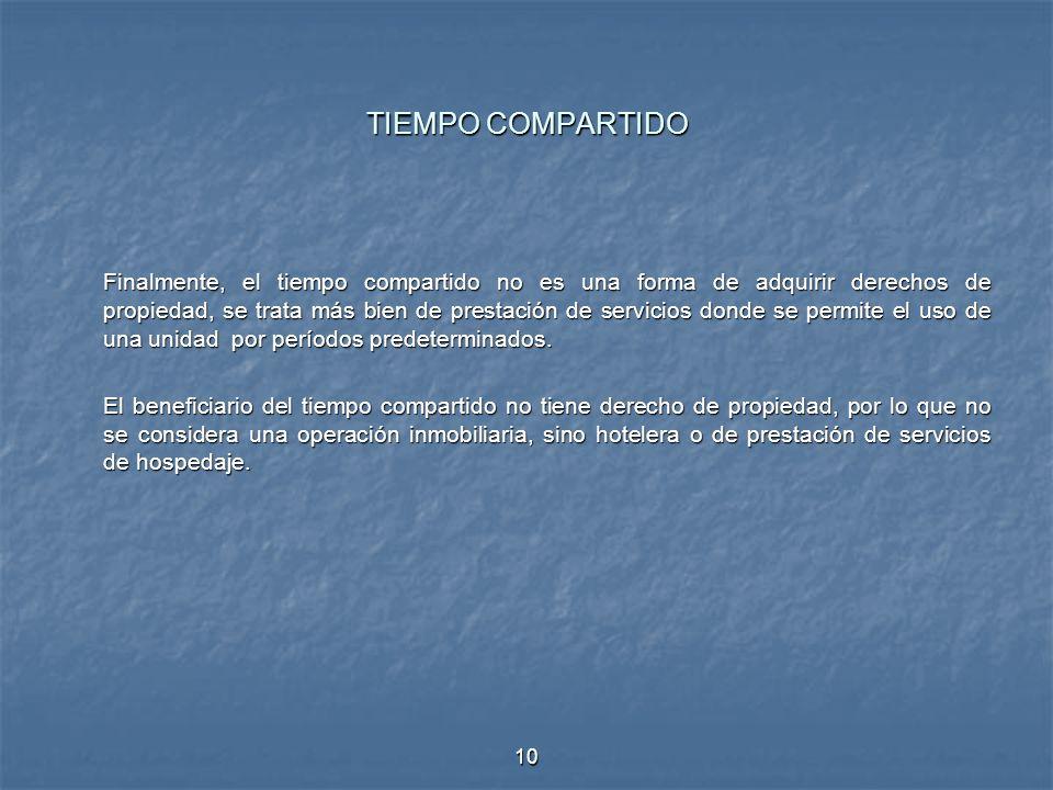 TIEMPO COMPARTIDO