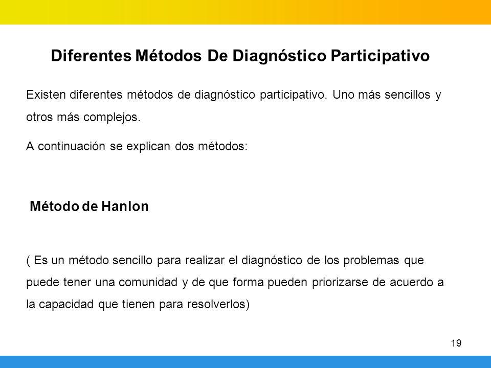 Diferentes Métodos De Diagnóstico Participativo