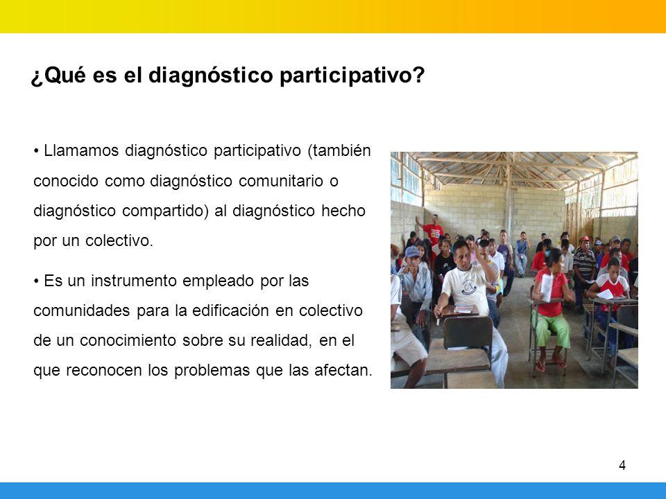 ¿Qué es el diagnóstico participativo