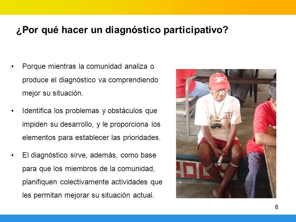 ¿Por qué hacer un diagnóstico participativo