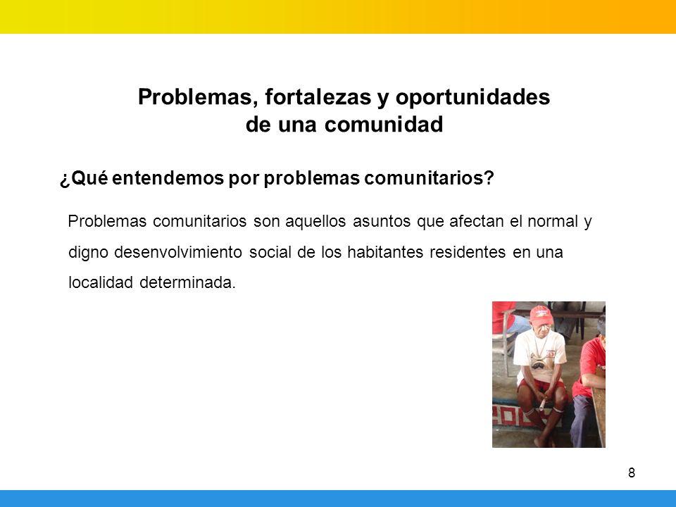 Problemas, fortalezas y oportunidades de una comunidad