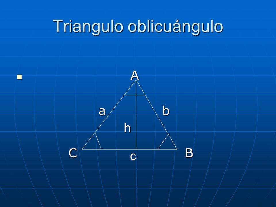 Triangulo oblicuángulo