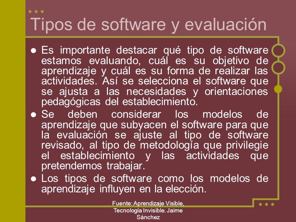 Tipos de software y evaluación