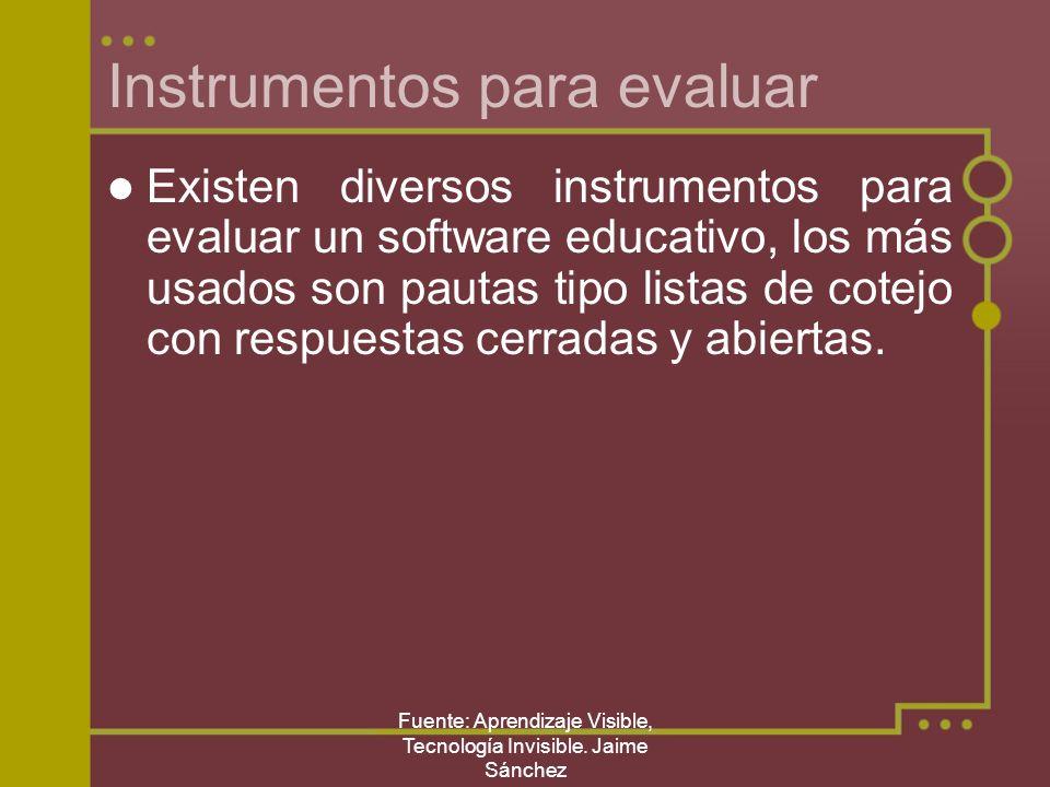 Instrumentos para evaluar