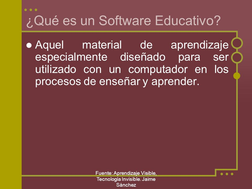¿Qué es un Software Educativo