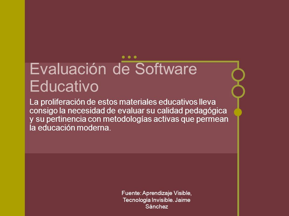 Evaluación de Software Educativo