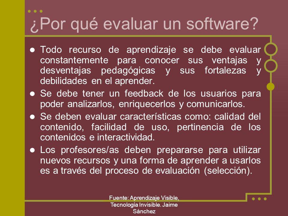 ¿Por qué evaluar un software