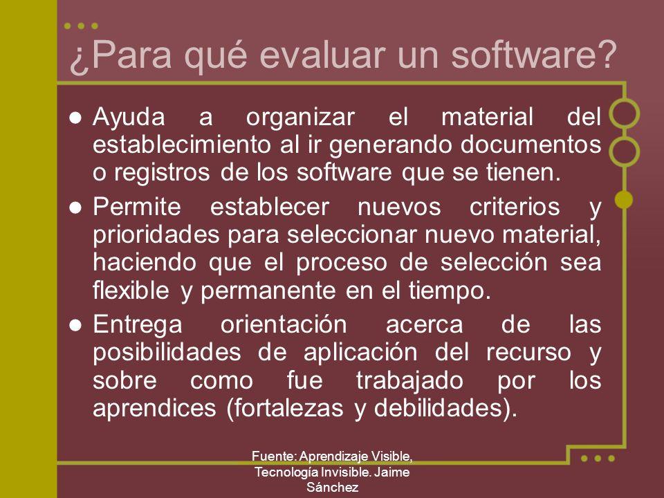 ¿Para qué evaluar un software