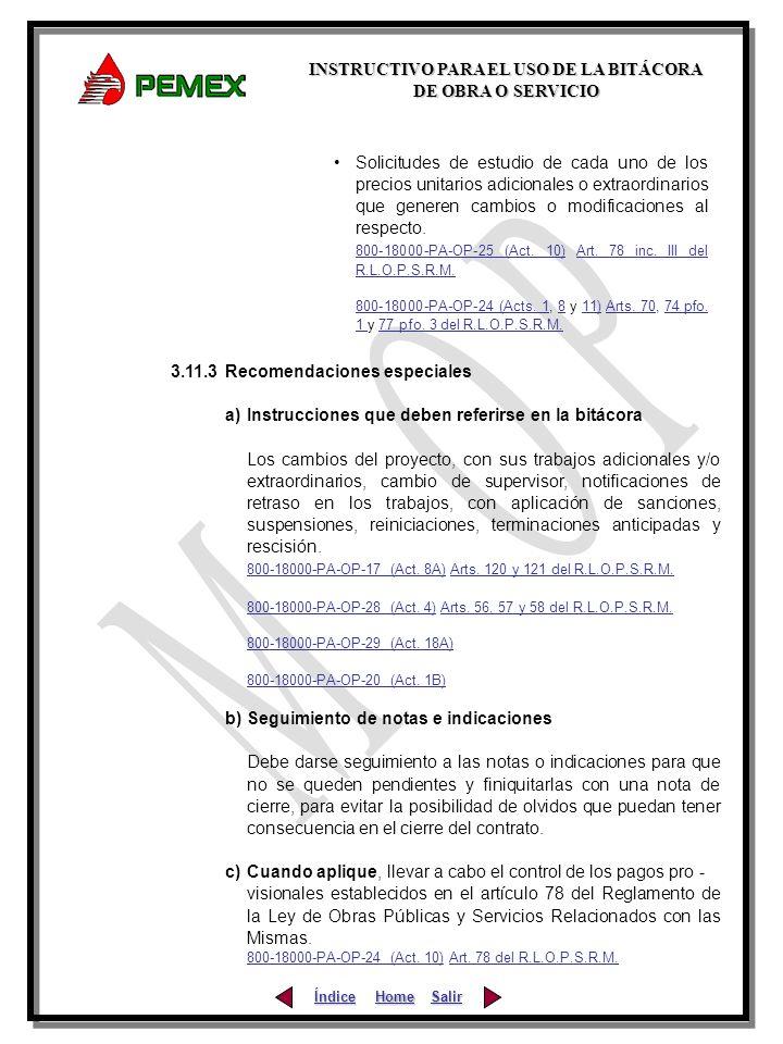 800-18000-PA-OP-25 (Act. 10) Art. 78 inc. III del R.L.O.P.S.R.M.