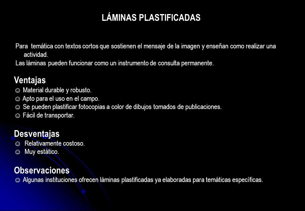 LÁMINAS PLASTIFICADAS