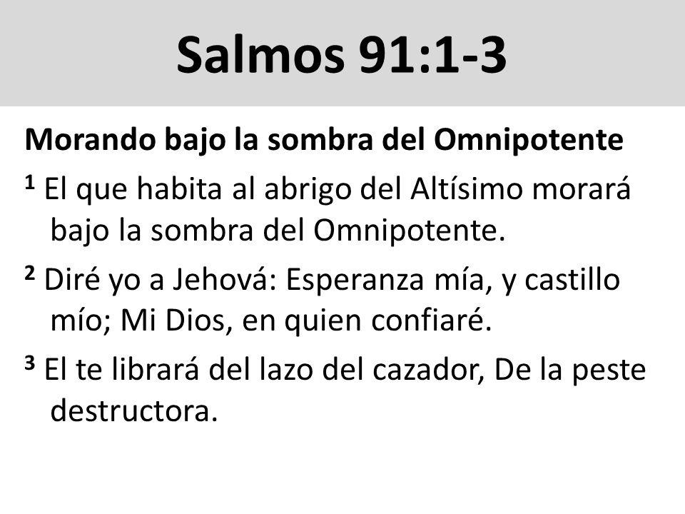 Salmos 91:1-3 Morando bajo la sombra del Omnipotente