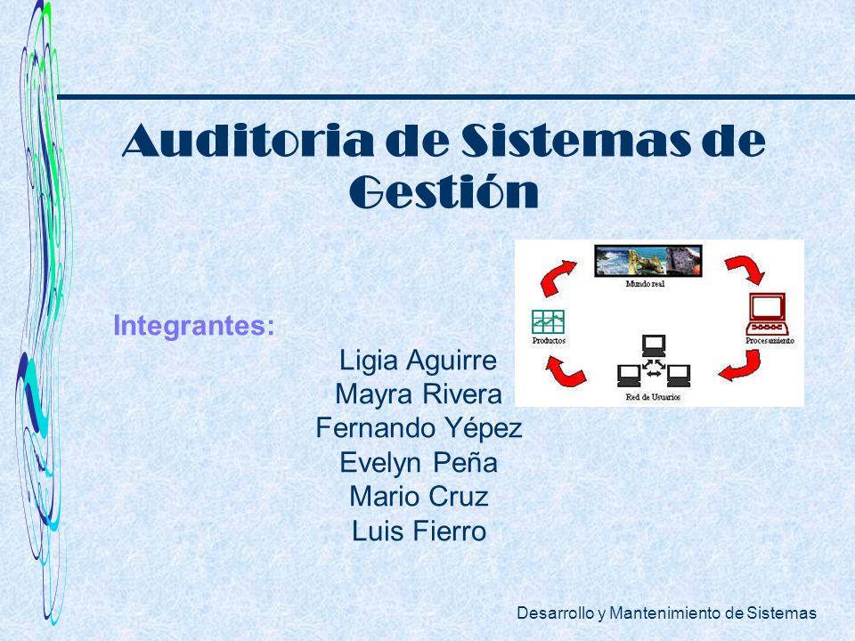 Auditoria de Sistemas de Gestión