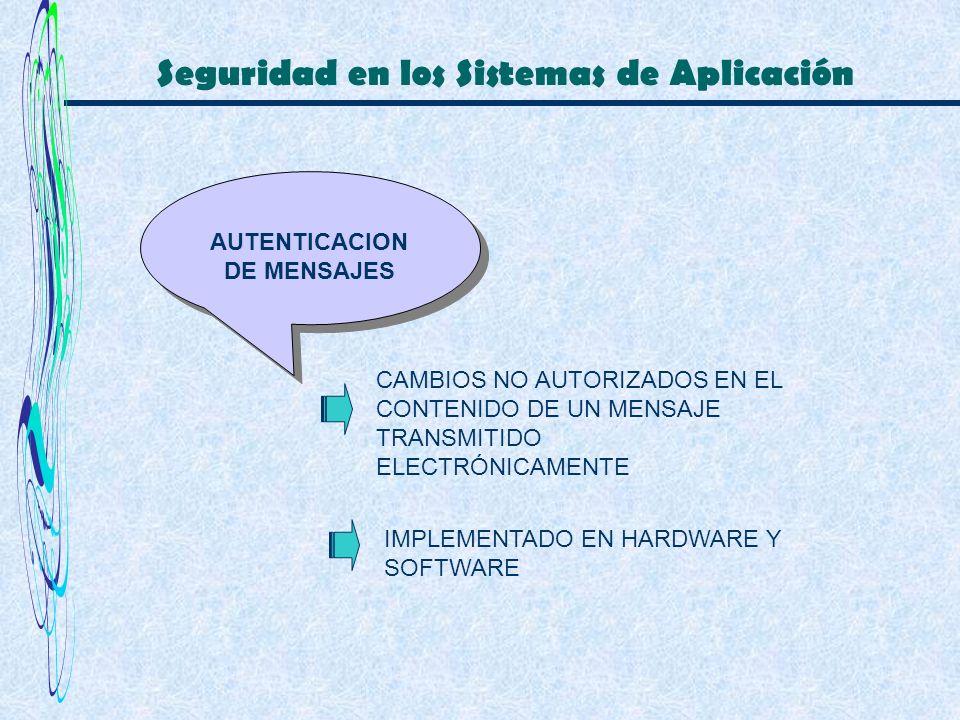 Seguridad en los Sistemas de Aplicación