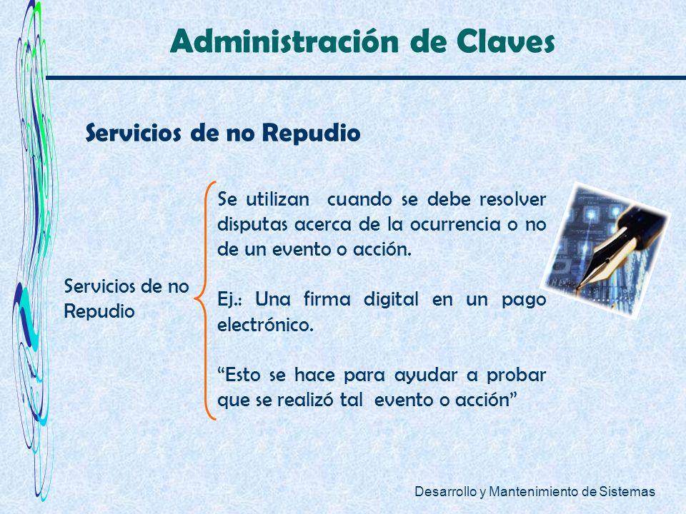 Administración de Claves