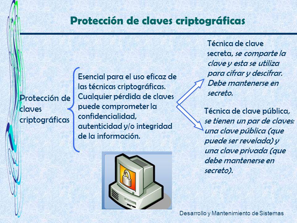 Protección de claves criptográficas