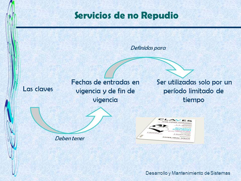 Servicios de no Repudio