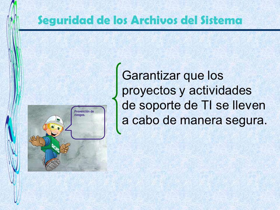 Seguridad de los Archivos del Sistema