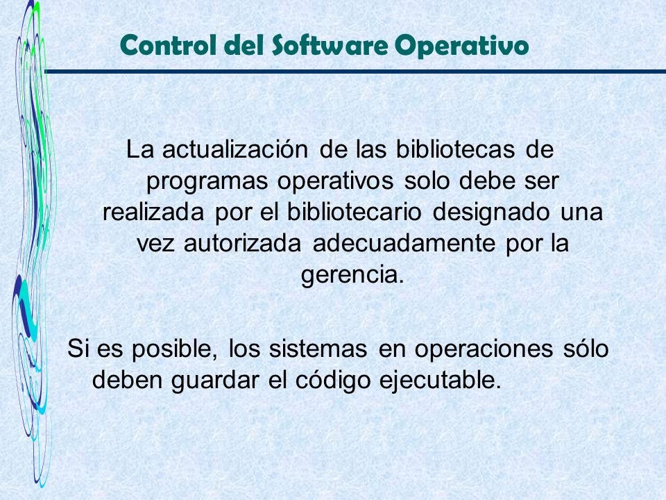 Control del Software Operativo