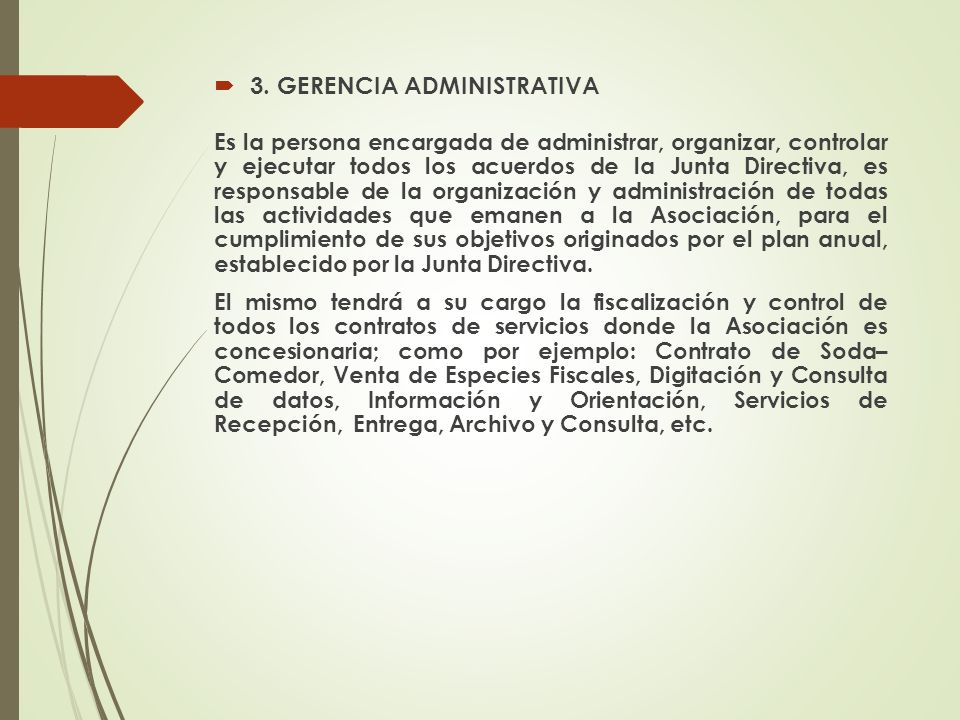 3. GERENCIA ADMINISTRATIVA