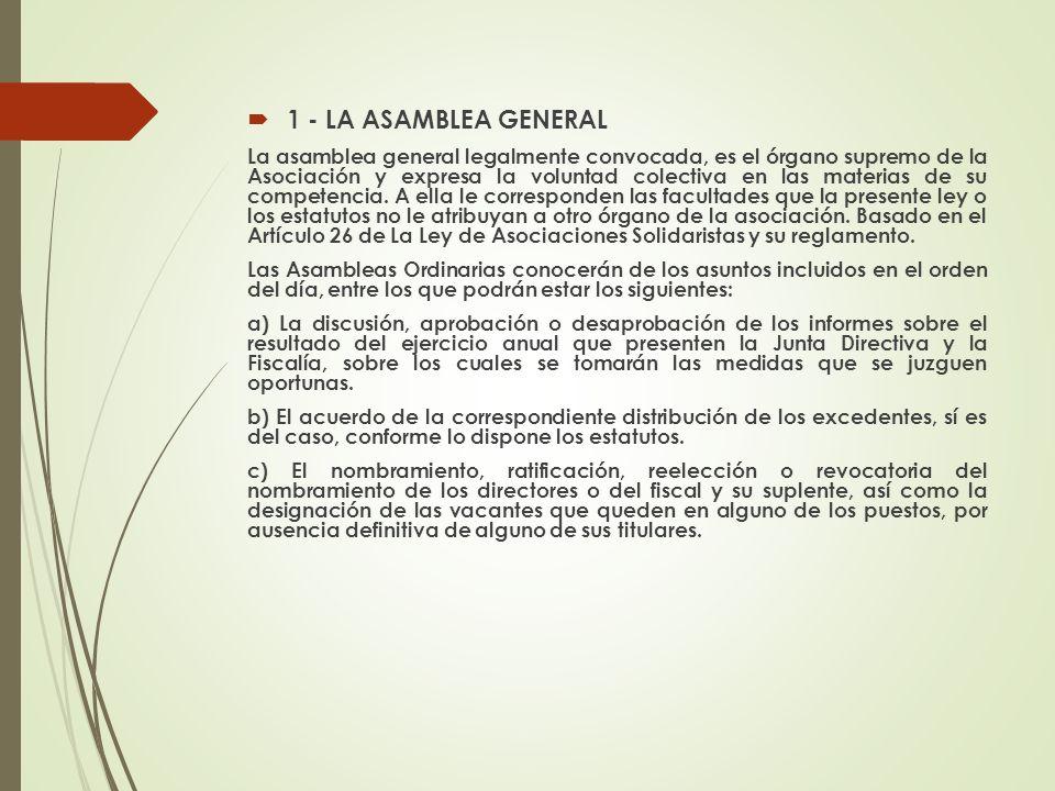 1 - LA ASAMBLEA GENERAL