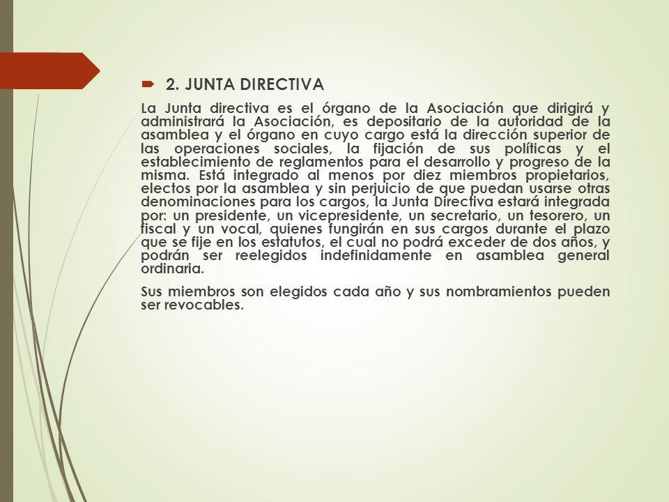2. JUNTA DIRECTIVA