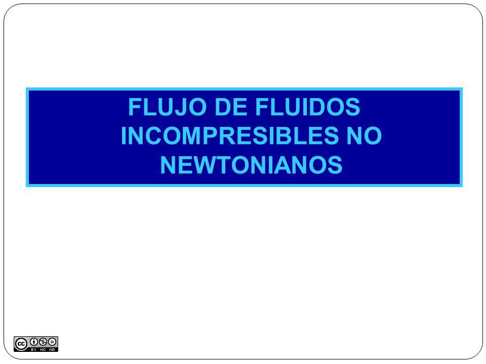 FLUJO DE FLUIDOS INCOMPRESIBLES NO NEWTONIANOS