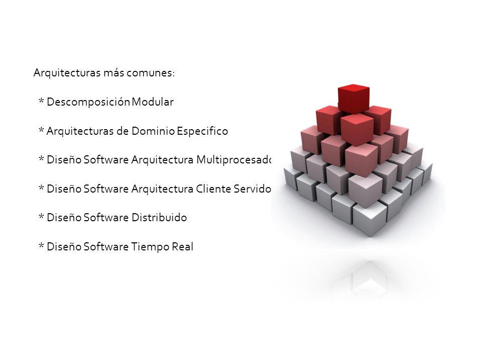 Arquitecturas más comunes:. Descomposición Modular