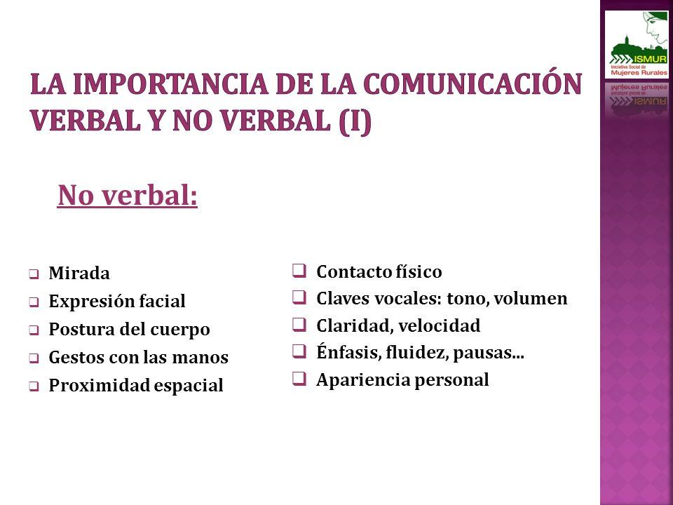 La importancia de la comunicación verbal y no verbal (I)