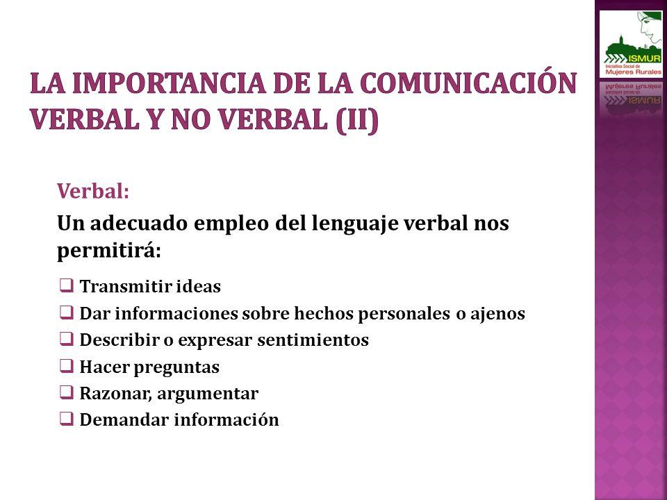 La importancia de la comunicación verbal y no verbal (II)