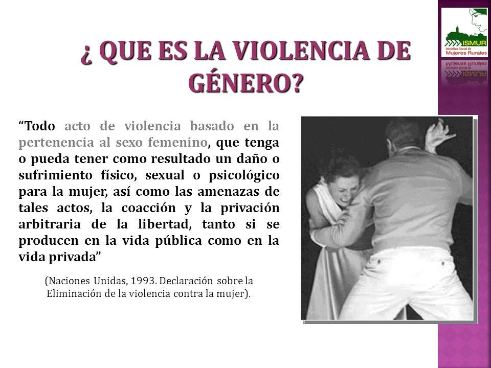 ¿ QUE ES LA VIOLENCIA DE GÉNERO