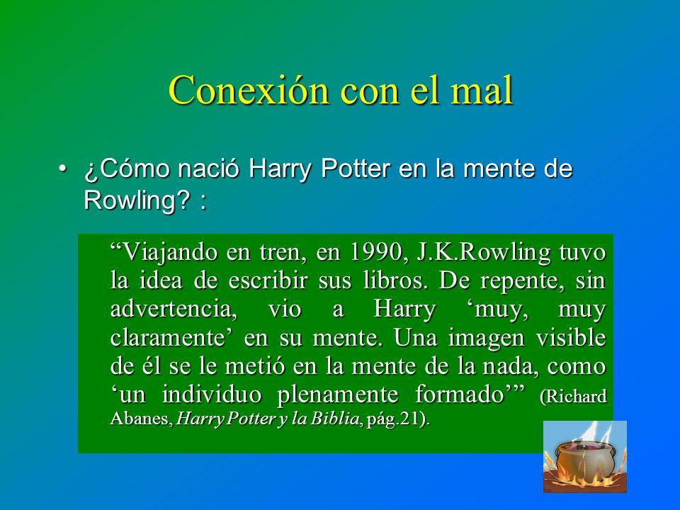 Conexión con el mal ¿Cómo nació Harry Potter en la mente de Rowling :