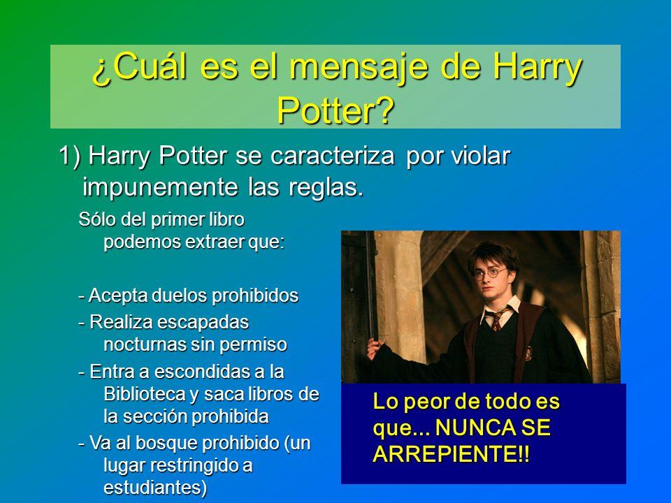¿Cuál es el mensaje de Harry Potter