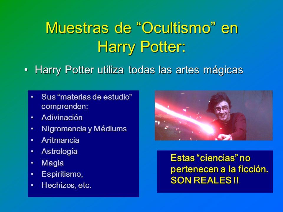 Muestras de Ocultismo en Harry Potter: